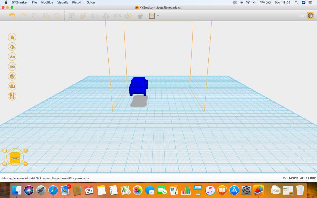 software XYZmaker da Vinci nano