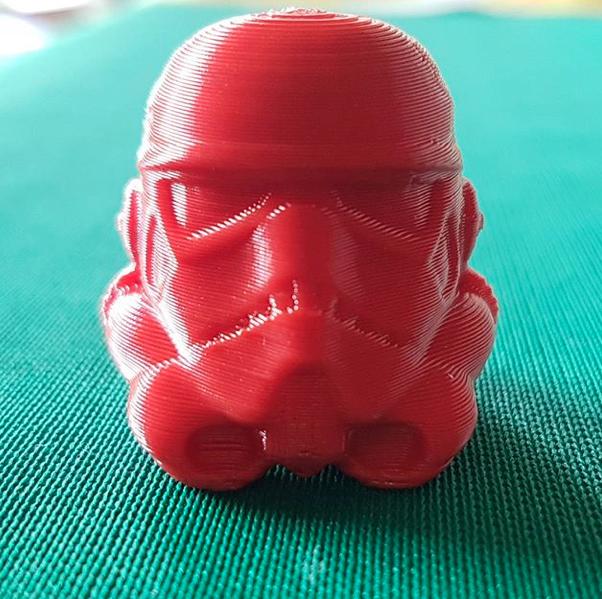 testa stormtrooper 3d da Vinci nano