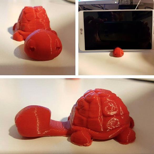 testa tartaruga 3d da Vinci nano